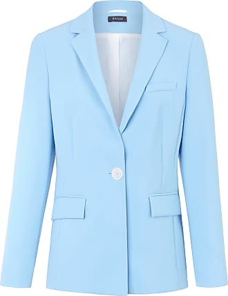 Basler Blazer elongated revere collar Basler blue
