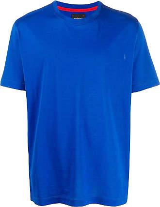 Kiton logo embroidered T-shirt - Blue