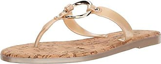 Bernardo Womens Matrix Jelly Flip-Flop, Gold Rubber, 10M M US