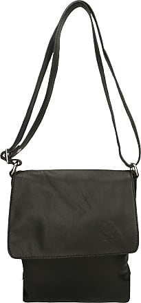 Chicca Borse Aren - Woman Shoulder Bag in Genuine Leather Made in Italy - 23x27x2 Cm