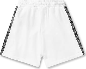 McQ by Alexander McQueen Logo-trimmed Loopback Cotton-jersey Shorts - White