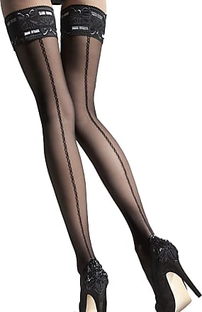 Fiore Melita stunning hold ups stockings with wide lace by Fiore. (4/L)