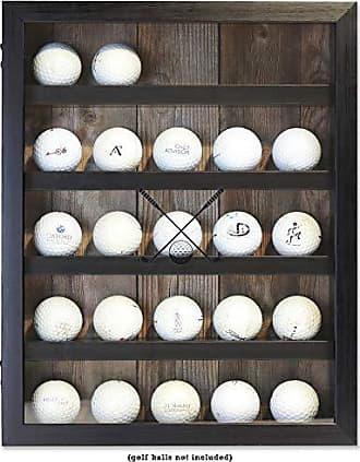 Lawrence Frames 11x14 Golf Display Case-Holds 25 Logo Balls Shadow Box Frame Black