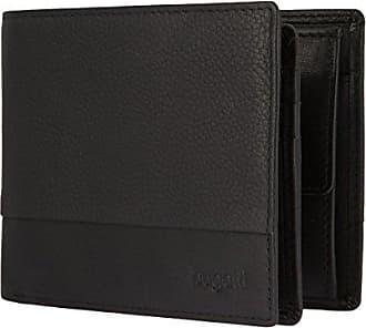 5bdcc3ba3466e1 Bugatti Herren Brieftasche aus Echt Leder im Querformat, Schwarze Geldbörse  für Männer Atlanta - Schwarz