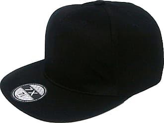 7X Plain Black Snapback Flat Peak Baseball Cap