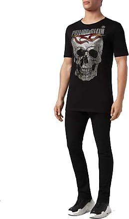 Philipp Plein T-Shirt Round Neck SS Flame (Medium) Black