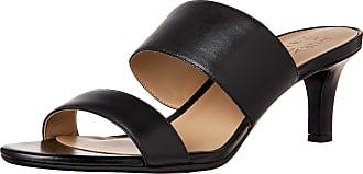 Naturalizer womens Tibby Heeled Sandals Black Size: 9.5 Narrow