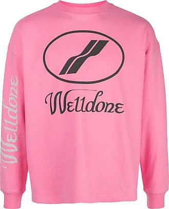 We11done Sweatshirt mit Logo-Print - Rosa
