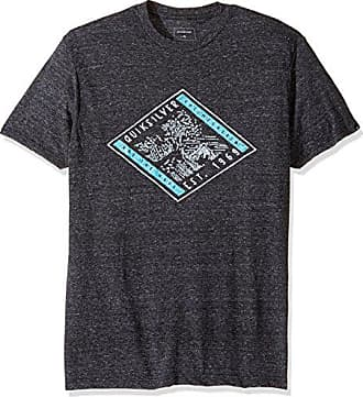 Quiksilver Mens Short Sleeve Modern Fit T Shirt, Rising Swell Charcoal Heather, Small