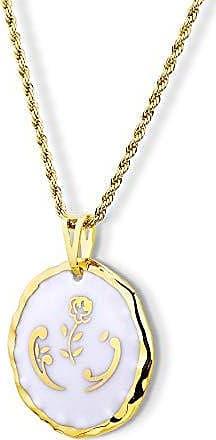 Design Medalhas Pingente Medalha redonda com Rosa Dourada Borda Pintada à Mão com Ouro 18k