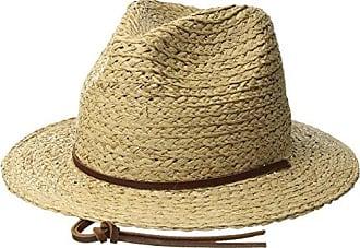 Brixton Mens Levon Short Brim Straw Fedora Hat 4cd5f968ff37