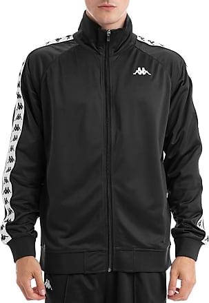 Kappa Mens Mens Anniston Banda Tack Jacket in Black-White - XS