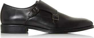 Dune London Dune Mens Strength Monk Shoes Size UK 11 Black Flat Heel Monk Shoes