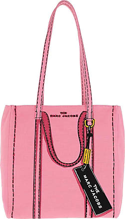 Marc Jacobs Tote - The Trompe LOeil Tag Tote Bag Pink Multi - rose - Tote for ladies