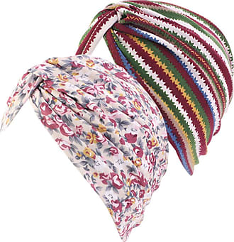 Zhhlaixing Turban Hat Sleep Bonnet Cap Women Girl Beanie Headcover 2 Pieces Set Scarf Head Warp Night Cap Hairloss Headwear Cancer Chemo Hat