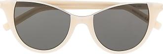 Saint Laurent Eyewear Óculos de sol gatinho SL368 - Neutro
