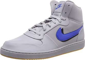 buy popular 3e548 99657 Nike Mens Ebernon Mid Premium Hi-Top Trainers, (Wolf Grey Signal Blue