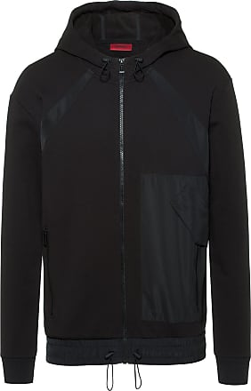 75ea85b903763 HUGO BOSS Zip-through hoodie in French terry with technical trims