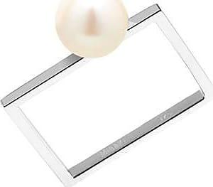 Misaki Bague fine Care en argent avec perle de culture blanche - taille 50