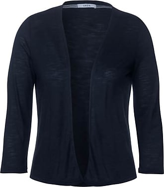 Cecil Unifarbene Shirtjacke - deep blue