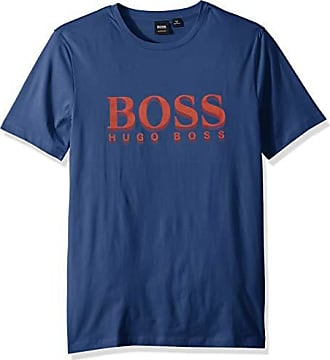 ce8a6af0d HUGO BOSS BOSS Orange Mens TLax 1 BHB Logo Tee with Waterbase Print, Open  Blue