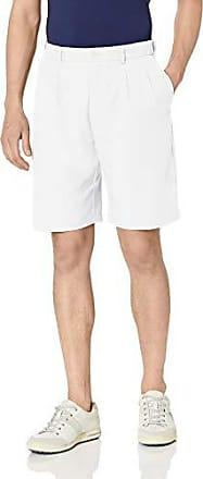 PGA TOUR Short extensible à double pli pour homme, blanc brillant, 30