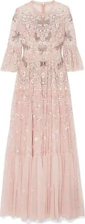 Needle & Thread Dragonfly Garden Embellished Embroidered Tulle Gown - Blush