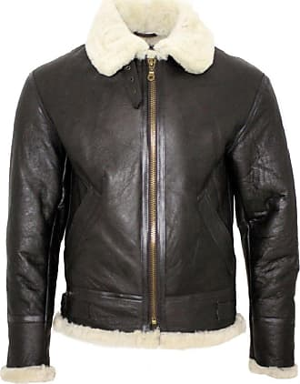 Infinity Mens Cream B3 Shearling Sheepskin World War 2 Bomber Leather Flying Aviator Jacket 2XL