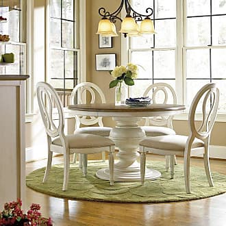 Universal Furniture Summer Hill 5 piece Pedestal Dining Set with Pierced Back Chairs - Cotton - UNIR1588-1
