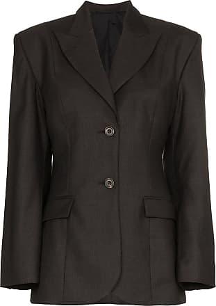 Wright Le Chapelain Blazer skinny estruturado - Marrom