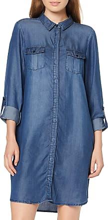 Vero Moda Womens Vmsilla Ls Short Dress Mb Noos Ga, Blue (Medium Blue Denim Medium Blue Denim), 12 (Size