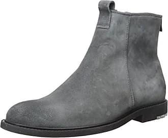 34c430316a25e2 HUGO BOSS BOSS Orange Mens Cultural Roots Suede Zip Boot Fashion, Dark Grey  7 M