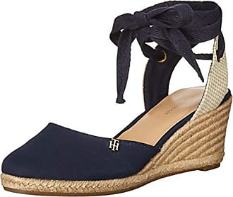 204e4b9a Tommy Hilfiger Womens Nowell Espadrille Wedge Sandal, Navy, 7.5 M US