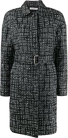 Philosophy di Lorenzo Serafini check pattern single breasted coat - Black