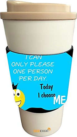 Rikki Knight I Can Only Please One Person Per Day Sky Blue Design Latte Beverage Insulator, Black