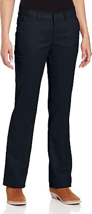Dickies FP221 Womens Flat Front Pant, 10, Dark Navy