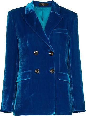 72b3a86ec6 De La Vali Blazer transpassado aveludado Tiger Lily - Azul
