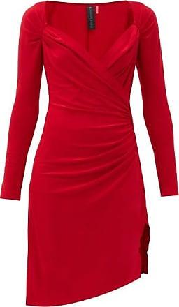 Norma Kamali Sweetheart-neckline Draped-jersey Dress - Womens - Red