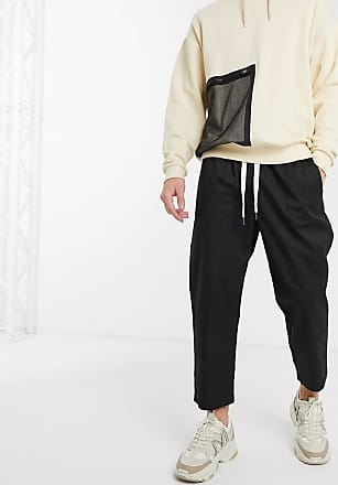 Reclaimed Vintage Reclaimed vintage cropped relaxed trouser in black
