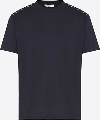 Valentino Valentino Uomo Rockstud Untitled T-shirt Man Navy Cotton 100% XXL
