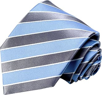 LORENZO CANA Luxury Italian 100/% Pure Silk Tie Jacquard Handmade Necktie Gold Blue Stripes 84151