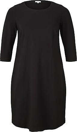 Tom Tailor Schlichtes Kleid, Damen, Deep Black, Größe: 46