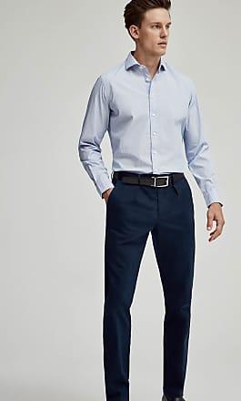 Hackett Mens Mini Geometric Print Cotton Shirt | Large | White/Sky