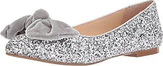 Blue by Betsey Johnson Womens SB-Amory Ballet Flat, Silver Glitter, 6 M US