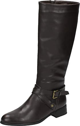 Spot On Ladies Spot On Knee High Boots - Brown - Size 3 UK (36 EU)