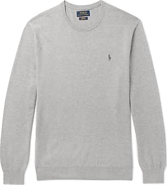 Polo Ralph Lauren Slim-fit Pima Cotton Sweater - Gray