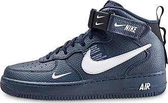 3a0790df8ec45 Nike Homme Air Force 1 Mid 07 Lv8 Utility Bleu Marine Et Blanche Baskets