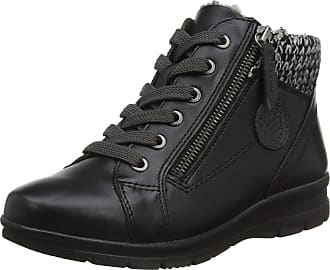 Jana Womens 8-8-26205-21 Hi-Top Trainers, Black (Black 001), 3.5 UK