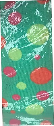 21Fashion Womens Over The Knee Socks Plain & Striped Thigh High Adults Stretchy OTK Socks Green Polka Dot 4-6.5 (12 Pairs)