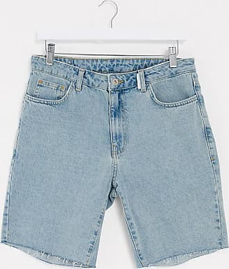 Collusion shorts with raw hem in vintage blue